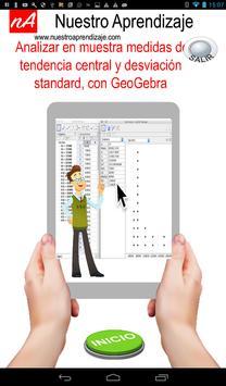 Analizar media, mediana y desviación con GeoGebra apk screenshot