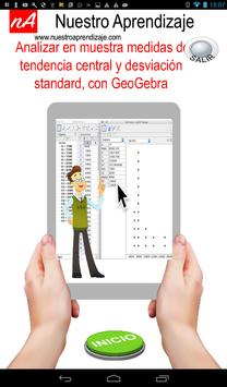 Analizar media, mediana y desviación con GeoGebra poster