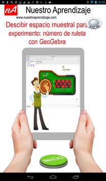 Espacio Muestral  obtener número  ruleta GeoGebra apk screenshot