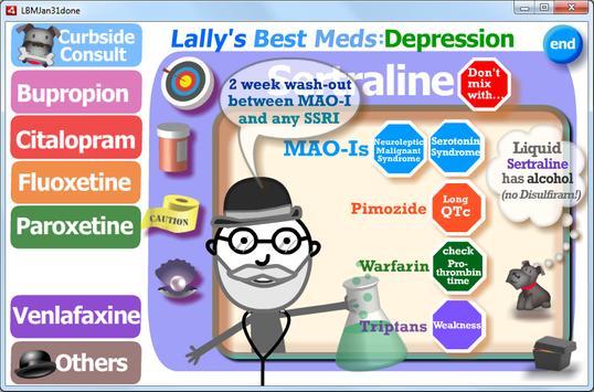 Depression: Lally's Best Meds poster