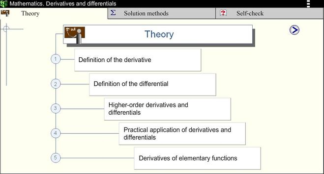 Derivatives.Math. screenshot 1