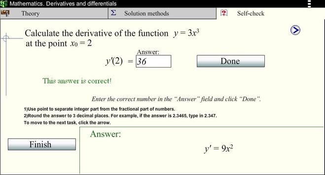 Derivatives.Math. screenshot 3