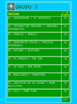 TOPICS ESPAÑOL-INGLÉS apk screenshot