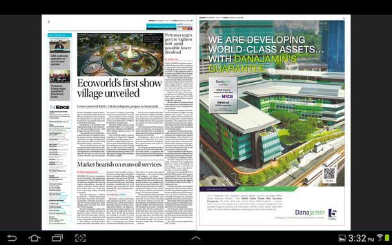 The Edge Financial Daily apk screenshot