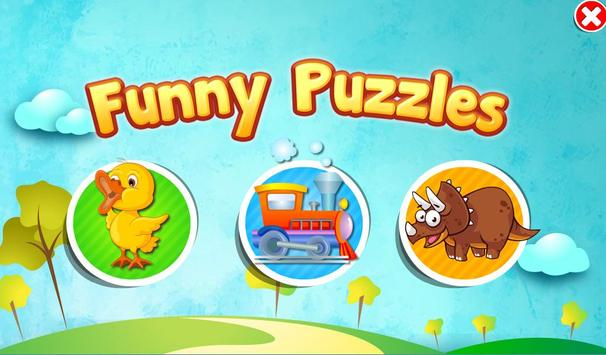 Funny Puzzles. Games for Kids poster