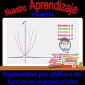 Representando graficamente funciones exponenciales icon