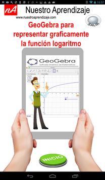 GeoGebra para graficar funciones logarítmicas poster