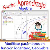 GeoGebra  modificar parámetros  función logaritmo icon