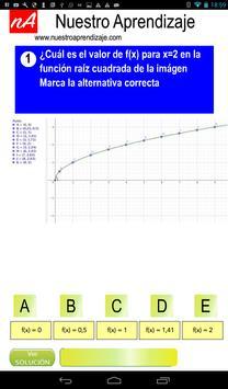 Representar de modo gráfico  función raíz cuadrada screenshot 1