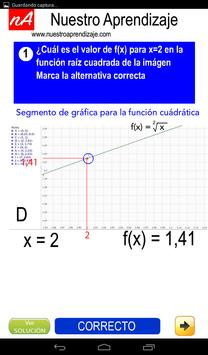 Representar de modo gráfico  función raíz cuadrada screenshot 3
