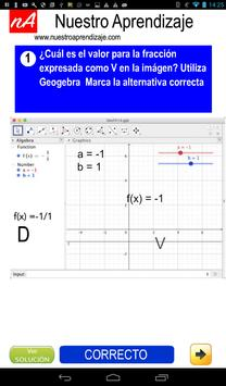 GeoGebra , valores cuando fracción es indefinida screenshot 13