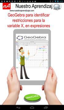GeoGebra restricción de X expresion fraccionaria poster