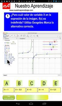 GeoGebra restricción de X expresion fraccionaria apk screenshot