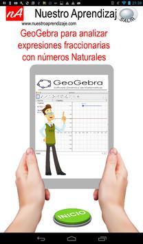 GeoGebra analizar expresión fraccionaria Naturales poster