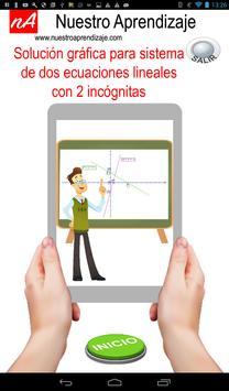 Solución gráfica para sistema de dos ecuaciones poster