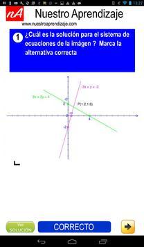 Solución gráfica para sistema de dos ecuaciones apk screenshot