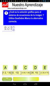 GeoGebra para solución de sistema de ecuaciones screenshot 1