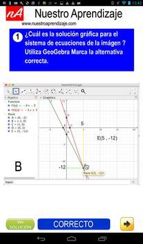 GeoGebra para solución de sistema de ecuaciones screenshot 6
