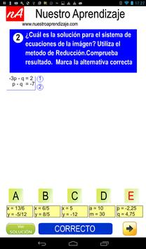 Resolver por reducción sistema de ecuaciones screenshot 3