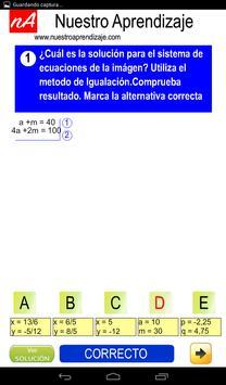 Resolver por igualación sistema de ecuaciones screenshot 2