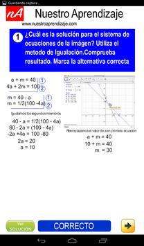 Resolver por igualación sistema de ecuaciones screenshot 3