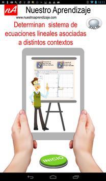 Sistema de ecuación lineal asociadas a contextos poster