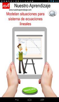 Modelan situaciones para sistema de ecuaciones poster