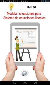 Modelan situaciones para sistema de ecuaciones screenshot 4
