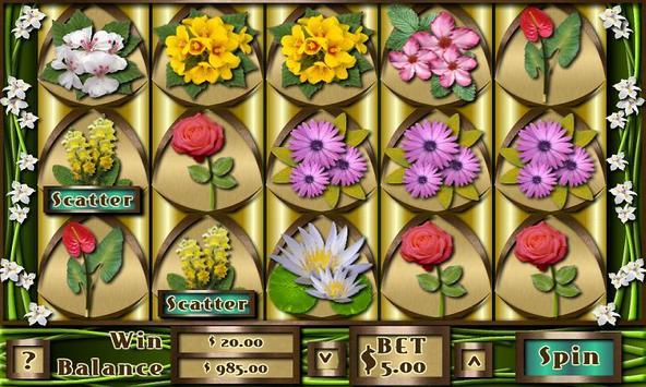 Flower Slots Machine Free poster