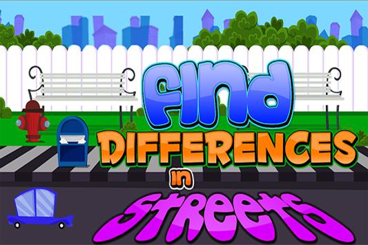 Find Differences in Streets poster