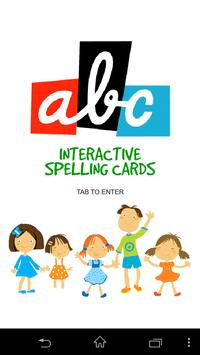 Interactive Spelling Cards poster