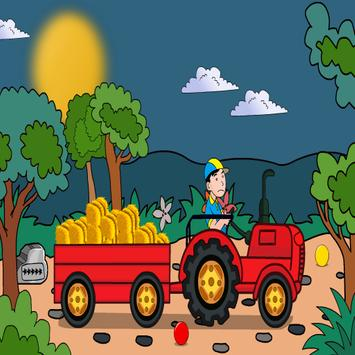 Hay Tractor Escape poster