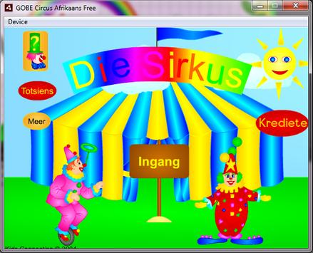 GOBE Circus Afrikaans Free poster