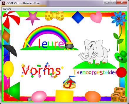 GOBE Circus Afrikaans Free apk screenshot