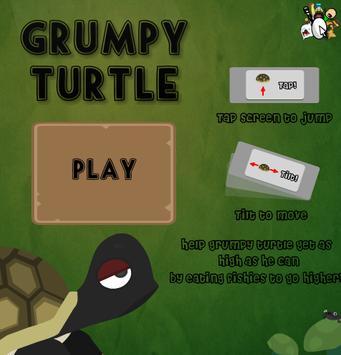 Grumpy Turtle poster