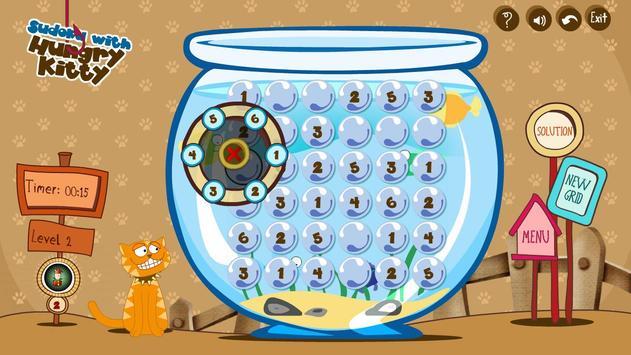 Sudoku With Hungry Kitty apk screenshot