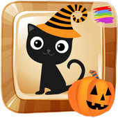 Halloween paint draw for kids icon