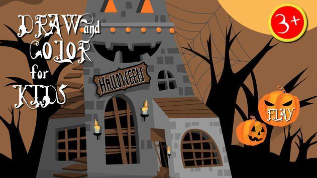 Halloween paint draw for kids screenshot 5