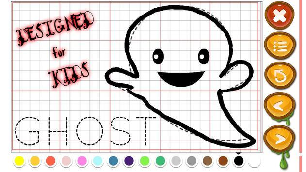 Halloween paint draw for kids screenshot 9