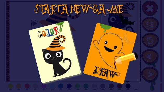 Halloween paint draw for kids screenshot 13