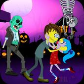Halloween Zombie kiss icon