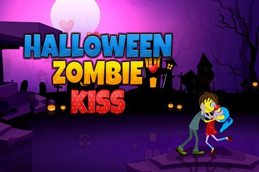 Halloween Zombie kiss poster