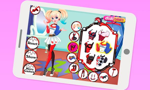 Dress Up Harley Quinn poster