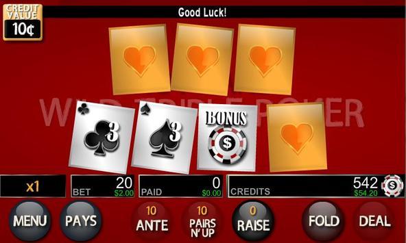 Wild Triple Poker Lite apk screenshot