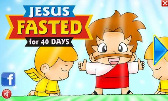 Bible Kids JESUS Fasted 40Days poster