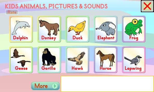 Kids Animals Pictures & Sounds poster
