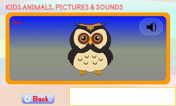 Kids Animals Pictures & Sounds apk screenshot