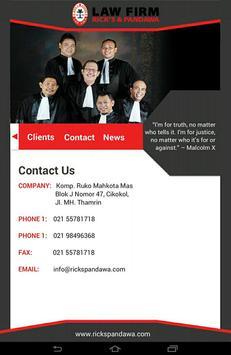 Law Firm Indonesia apk screenshot