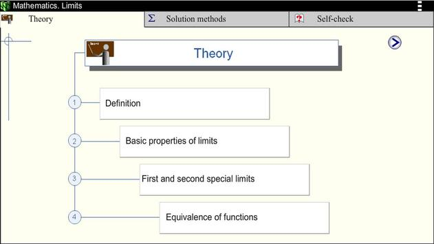 Math. Limits screenshot 1