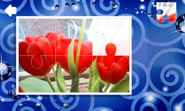 Jigsaw puzzles. Flowers poster